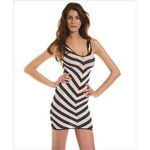 🔥2/$20 Music Legs Striped Dress Black/White
